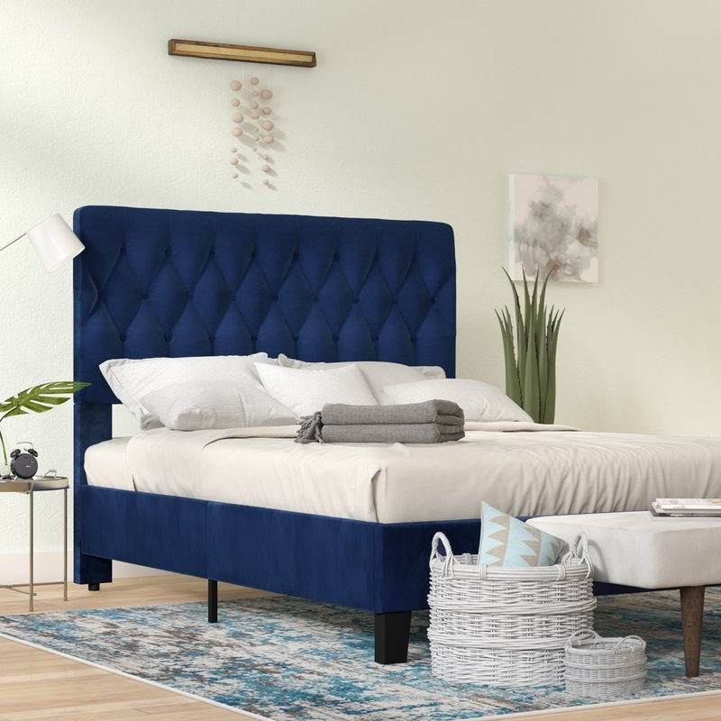 Best Ivy Bronx Kirtley Upholstered Panel Bed Reviews Wayfair Ca With Pictures