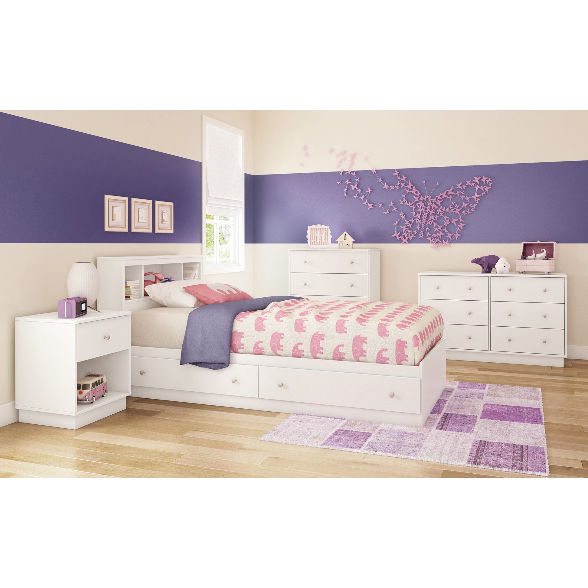 Best South Shore Litchi Twin Platform Customizable Bedroom Set With Pictures