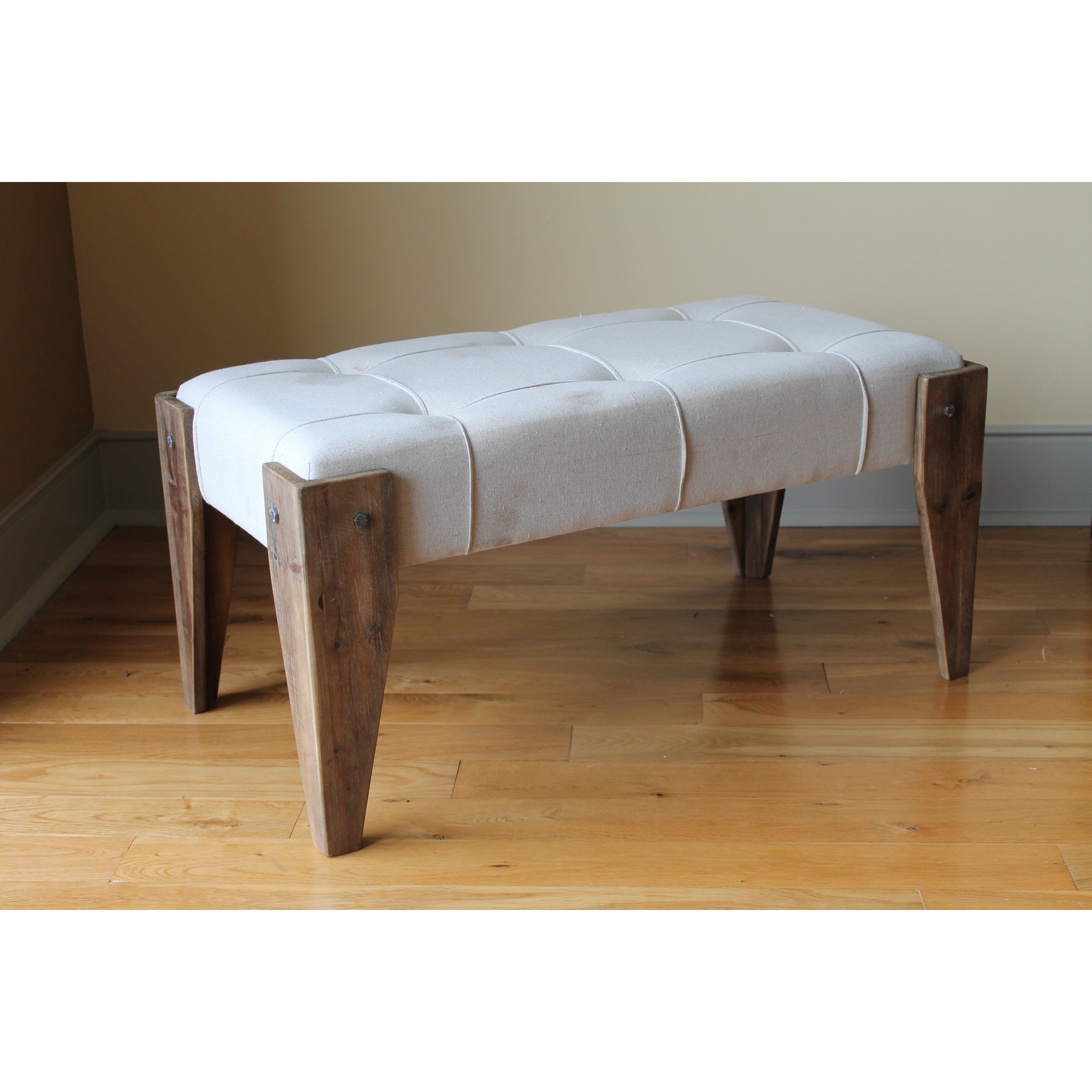 Best International Caravan Westwood Upholstered Bedroom Bench With Pictures