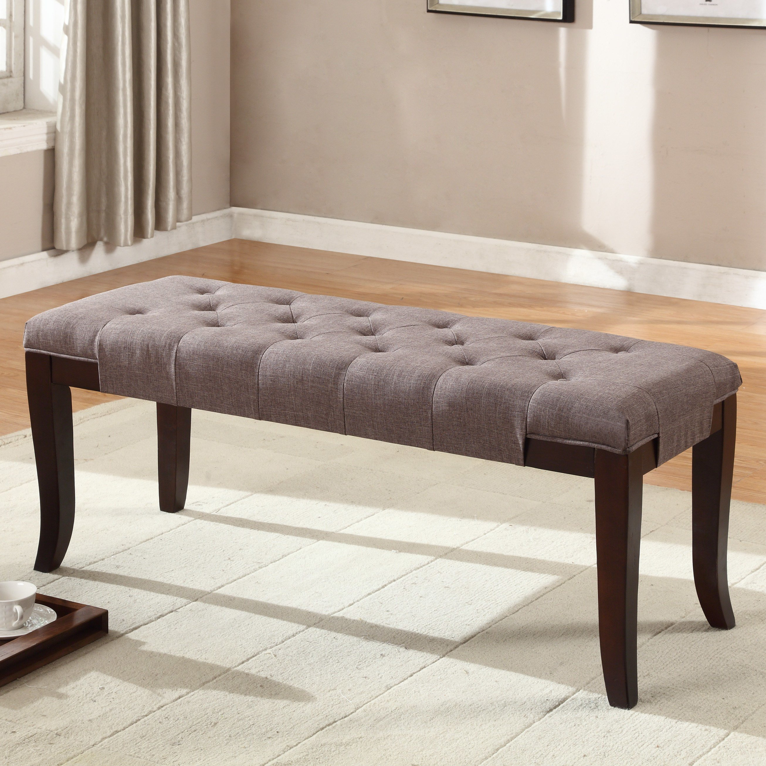Best Roundhill Furniture Linion Bedroom Bench Wayfair With Pictures