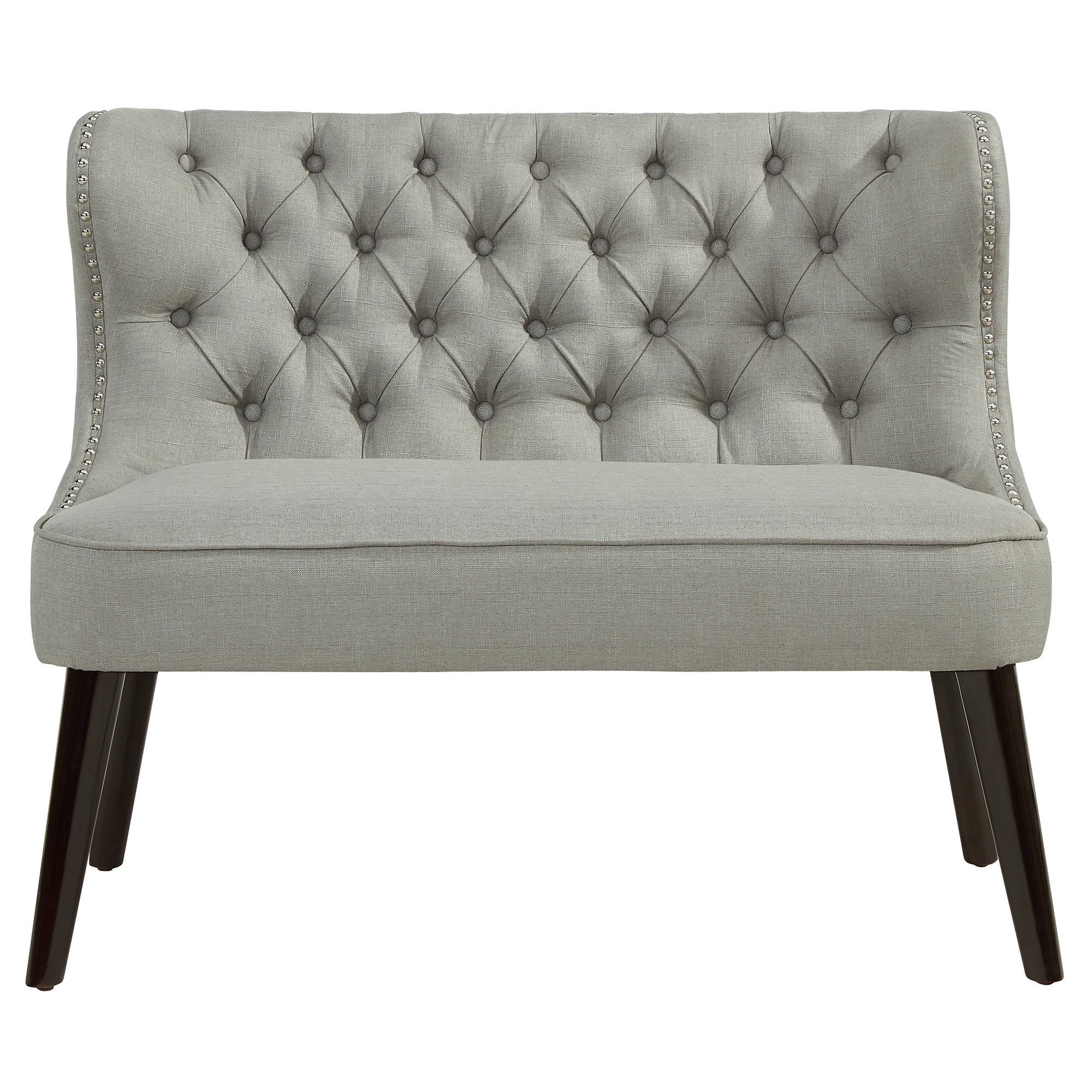 Best House Of Hampton Doring Tufted Wing Back Settee Bedroom With Pictures