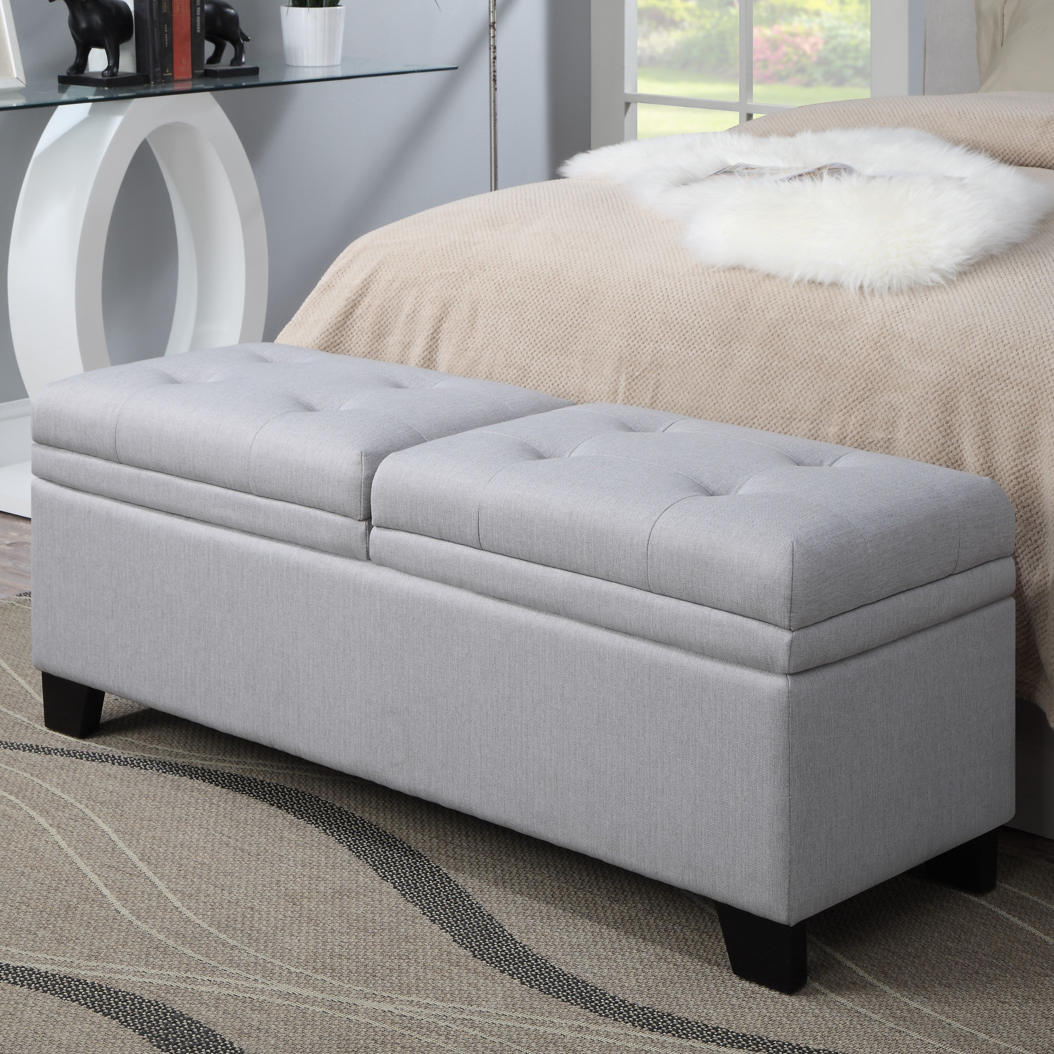 Best Pri Lilac Fields Upholstered Bedroom Storage Bench With Pictures