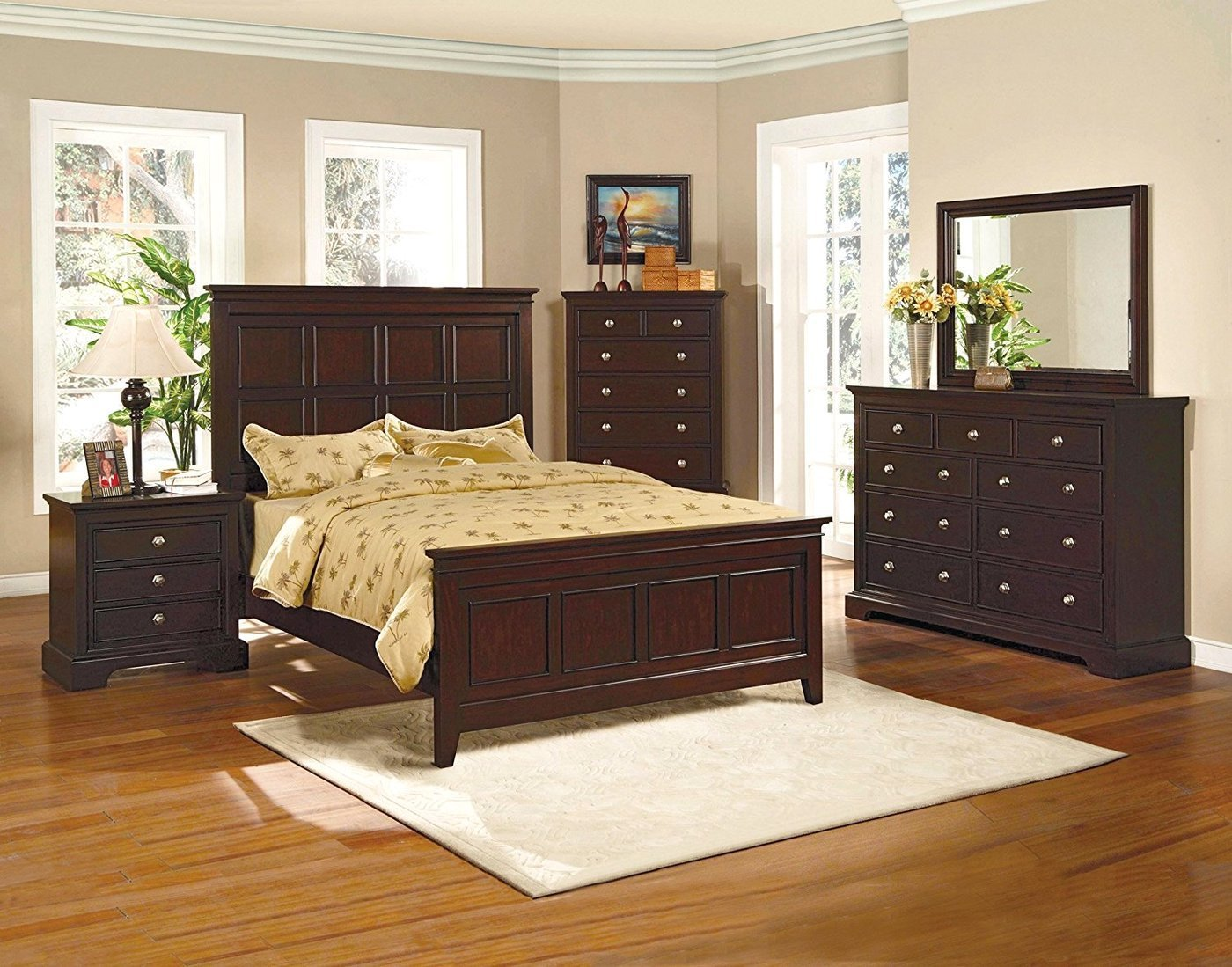 Best London Panel Espresso Finish Bedroom Furniture Set Free Shipping Shopfactorydirect Com With Pictures