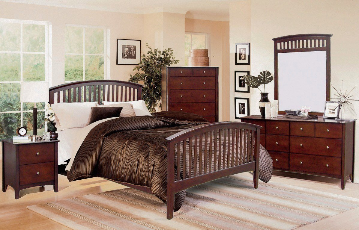 Best Mission Style Bedroom Set Dark Brown Furniture Set With Pictures