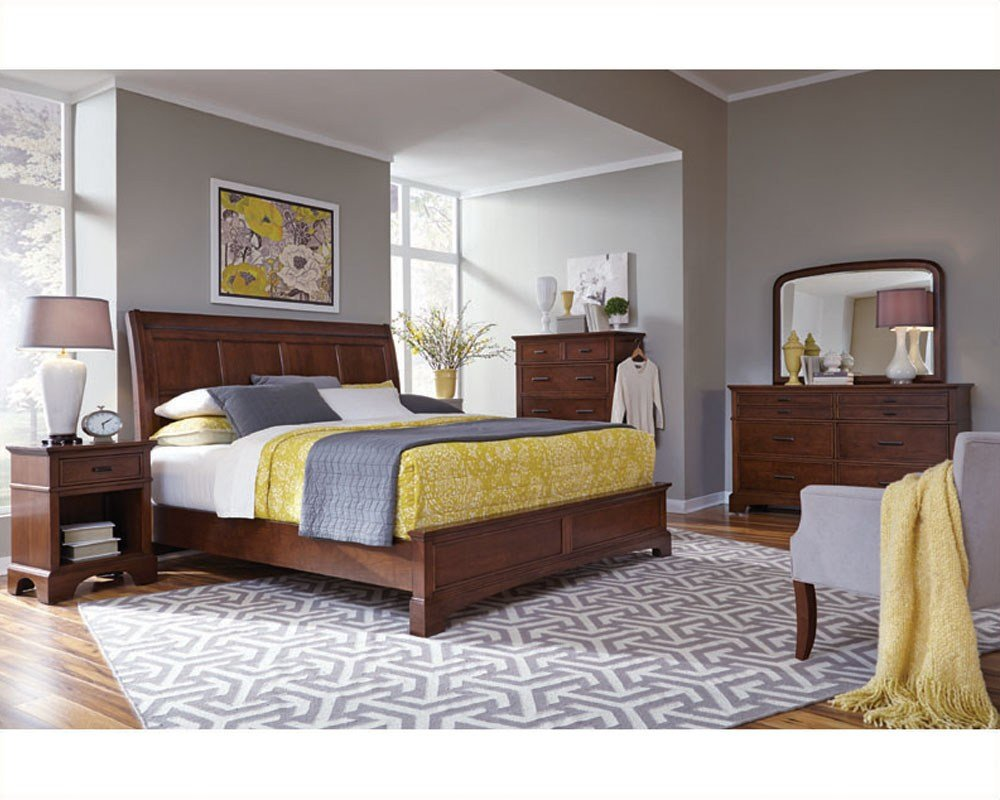 Best Aspenhome Bedroom W Sleigh Bed Cherry Forge Asi12 400Set With Pictures