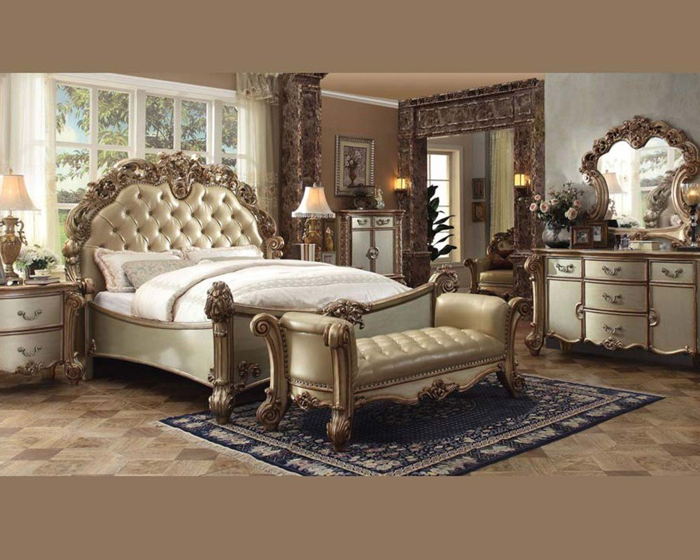 Best Bedroom Set Vendome Gold By Acme Furniture Ac23000Set With Pictures