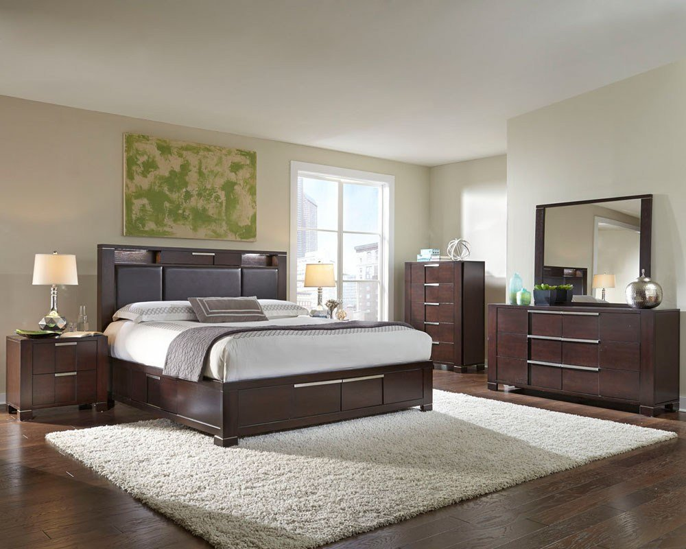 Best Najarian Furniture Contemporary Bedroom Set Studio Na Stbset With Pictures