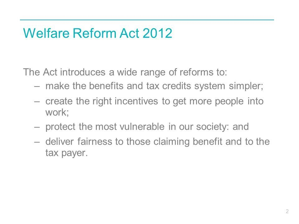 Best Welfare Reform Update March Ppt Download With Pictures