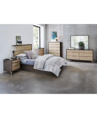 Best Furniture Closeout Adler Queen Platform Bed Created For With Pictures