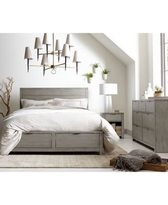 Best Furniture Tribeca Grey Storage Platform Bedroom Furniture Collection Created For Macy S With Pictures