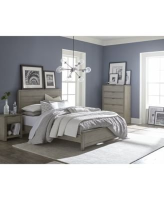 Best Furniture Tribeca Grey Bedroom Furniture Collection Created For Macy S Furniture Macy S With Pictures