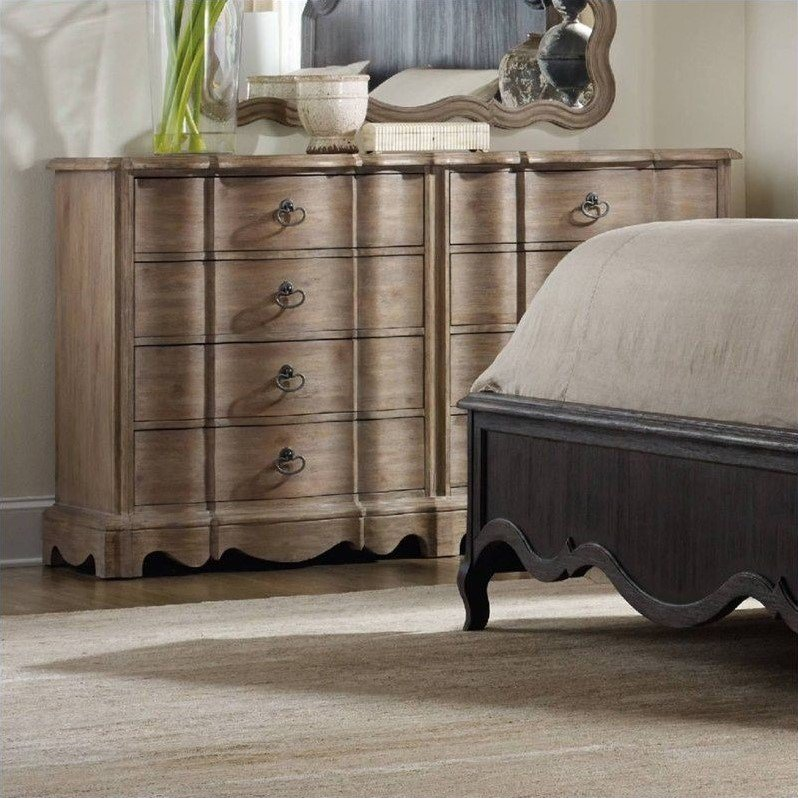 Best H**K*R Furniture Corsica 8 Drawer Double Dresser In Light With Pictures