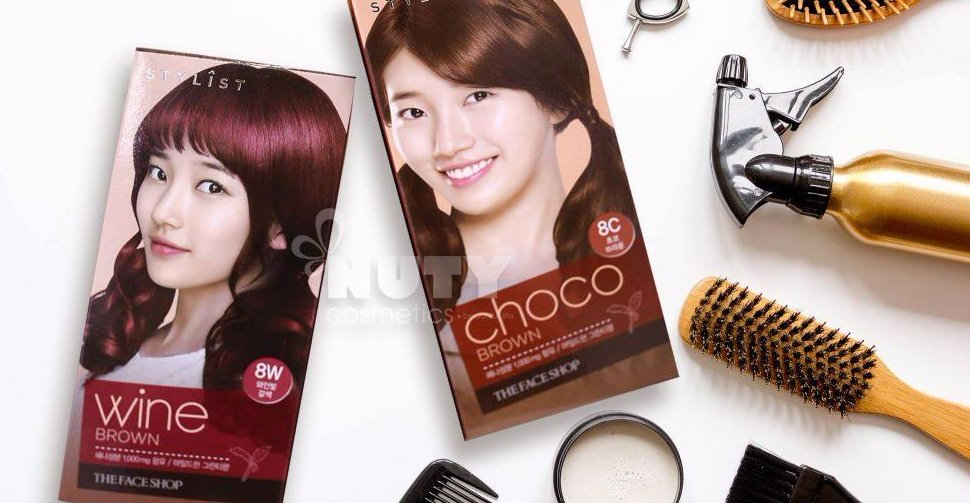 Free The Face Shop Stylist Silky Hair Color Cream 8W Wine Brown Wallpaper