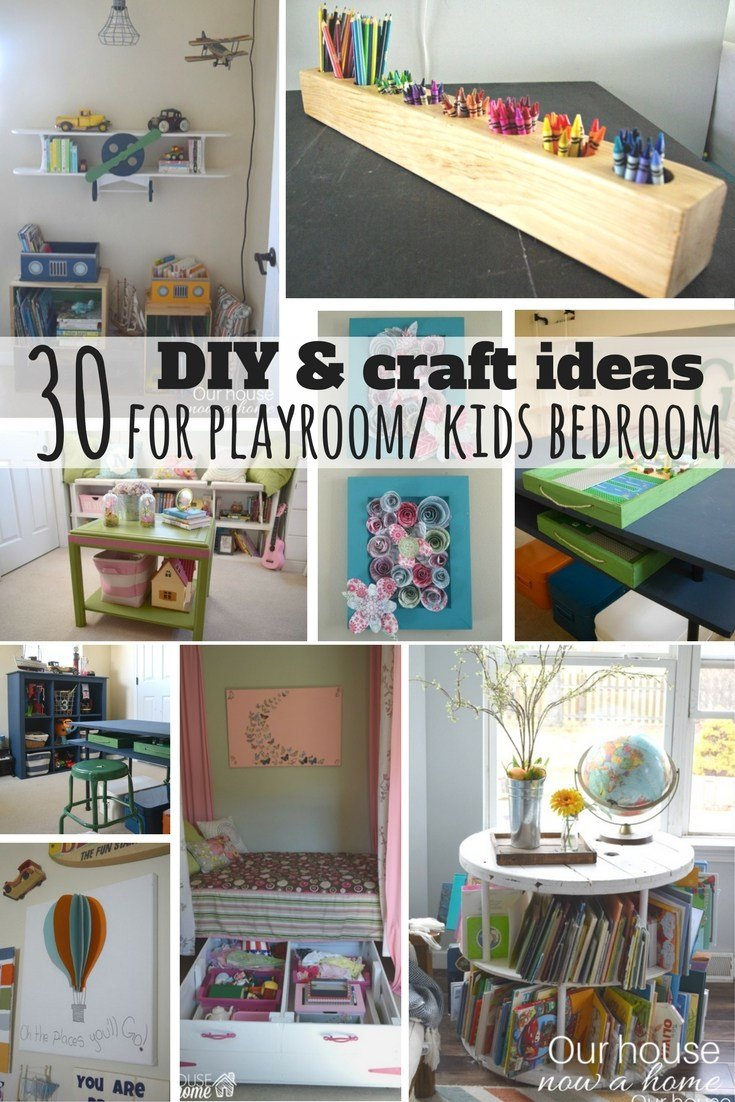 Best 30 Diy And Craft Decorating Ideas For A Playroom Or Kid S With Pictures