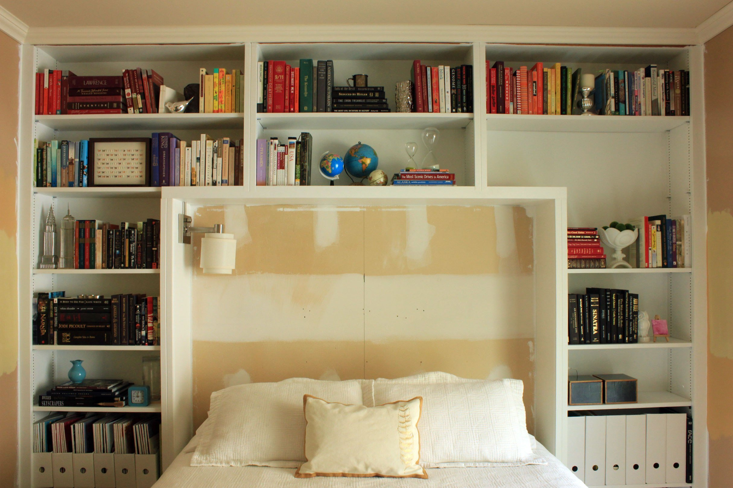 Best Guest Bedroom Books On Shelves With Pictures