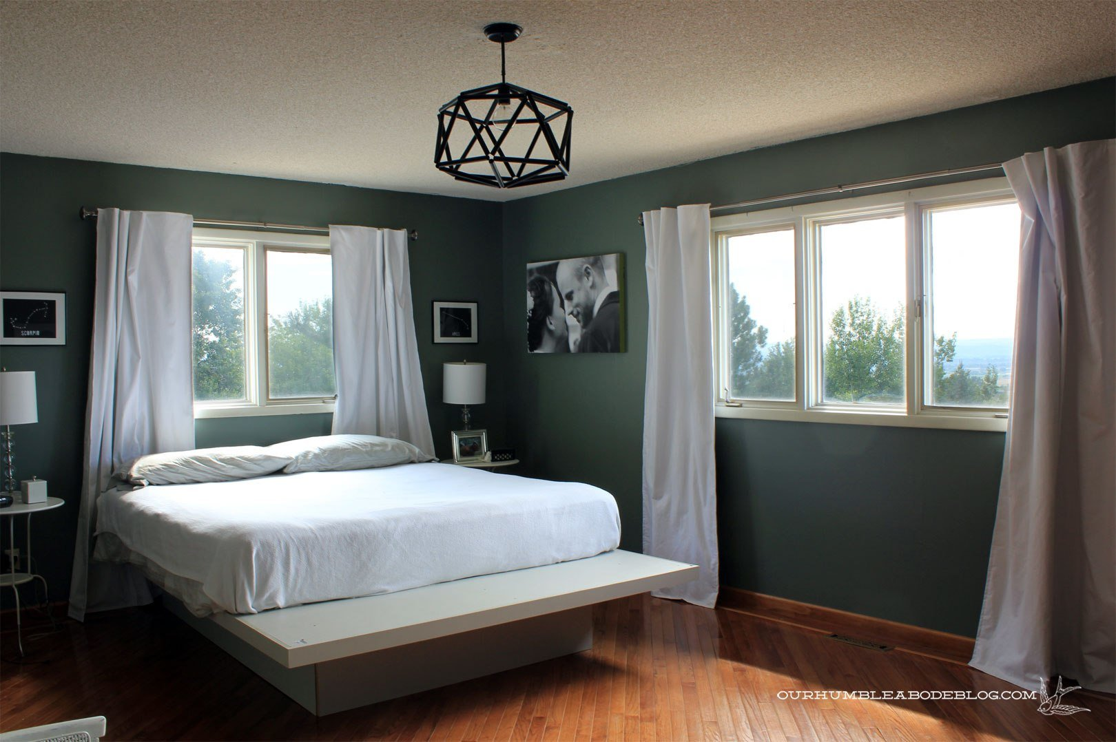 Best Master Bedroom Painted Blue Sage From Door With Pictures