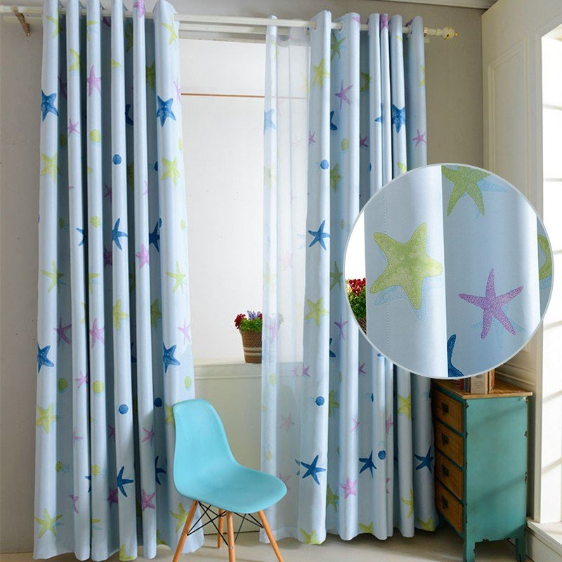 Best Boy Girl Kids Bedroom Blackout Curtains Ring Top Patterned With Pictures