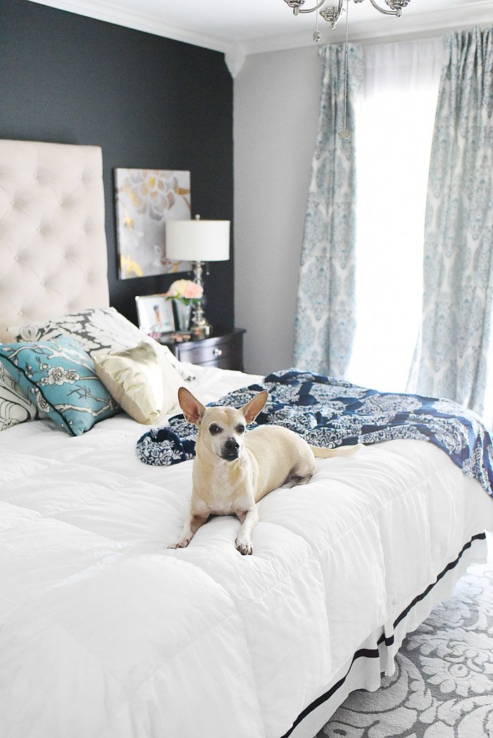 Best Navy White Master Bedroom Refresh Monica Wants It With Pictures