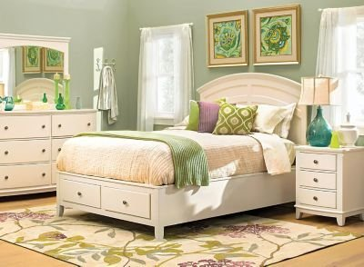 Best Kylie 4 Pc Queen Platform Storage Bedroom Set Cream Raymour Flanigan With Pictures