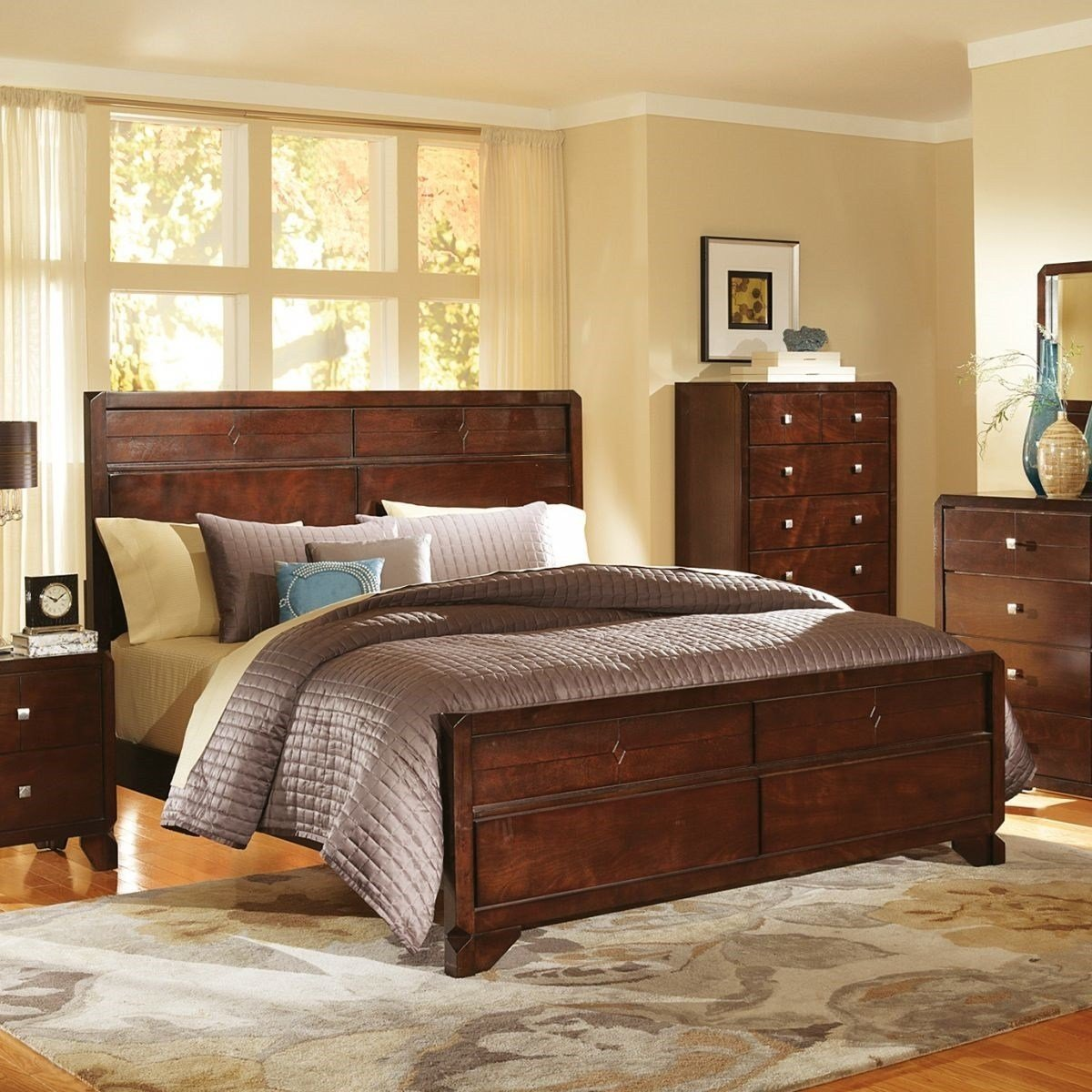 Best Maylay Espresso 8 Pc Queen Bedroom Badcock More With Pictures