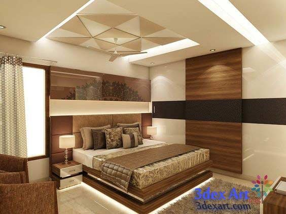Best New False Ceiling Designs Ideas For Bedroom 2019 With Led Lights With Pictures
