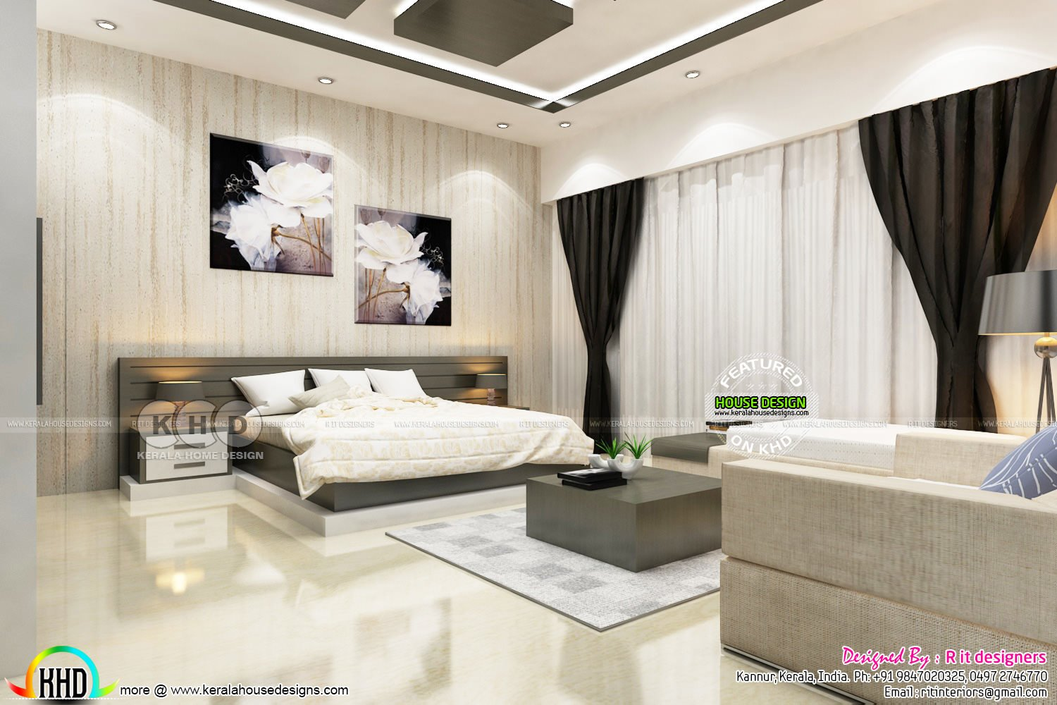 Best Bedroom And Dressing Area Interior Kerala Home Design With Pictures
