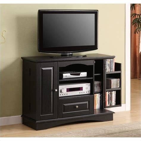 Best Walker Edison 42 Wide Black Bedroom Tv Stand Console With With Pictures