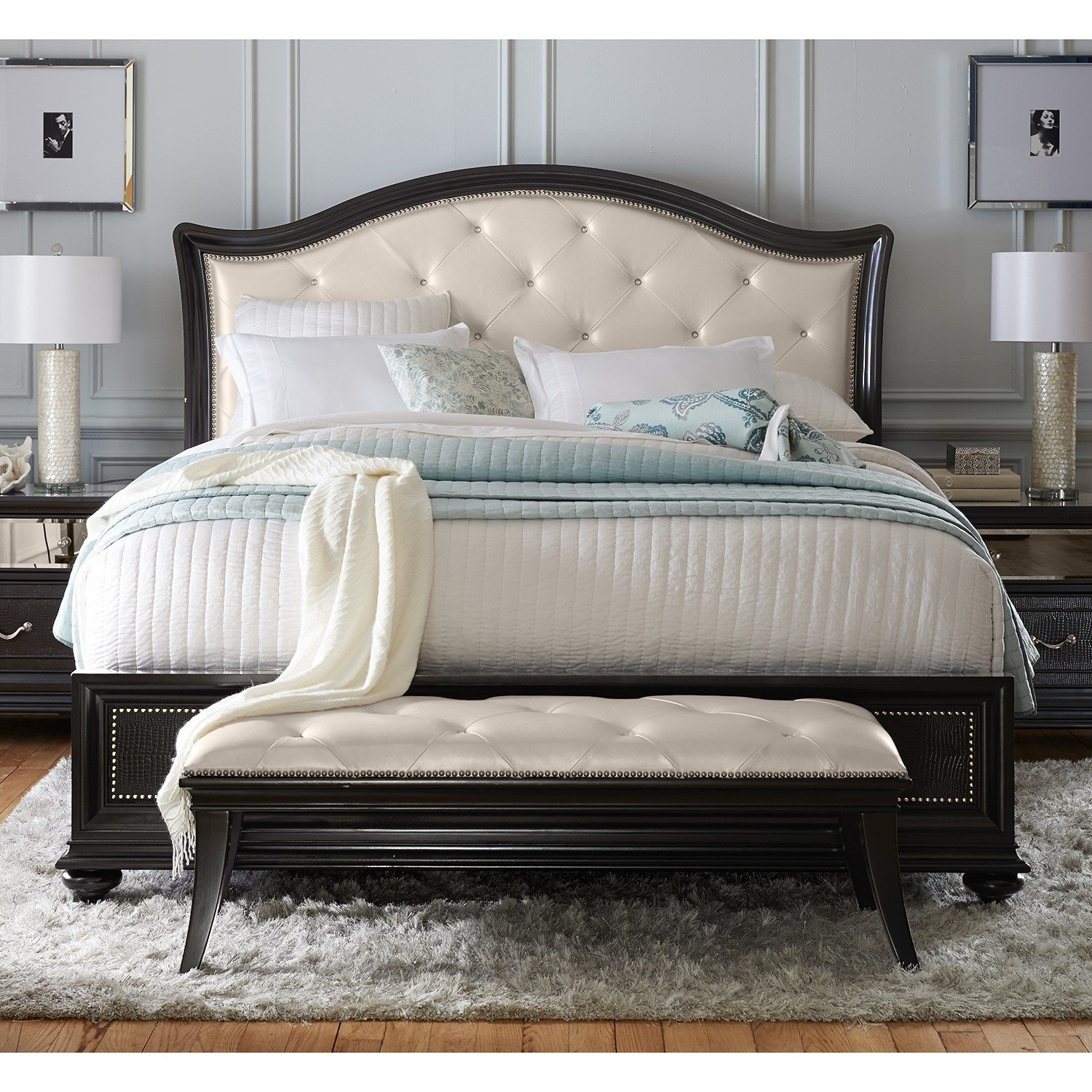 Best Marilyn Queen Bed Ebony American Signature Furniture With Pictures