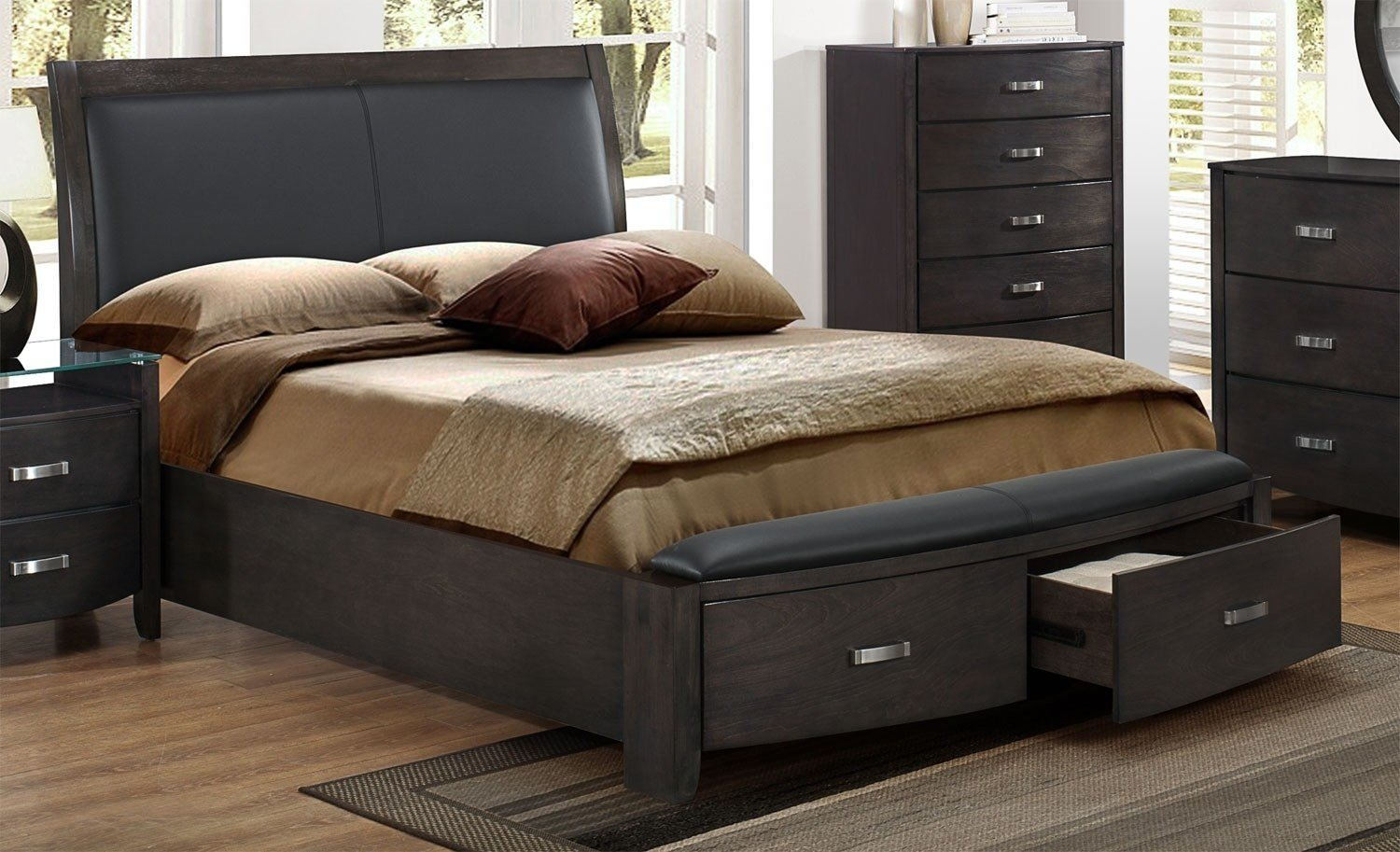 Best Cinema King Bed Charcoal Leon S With Pictures