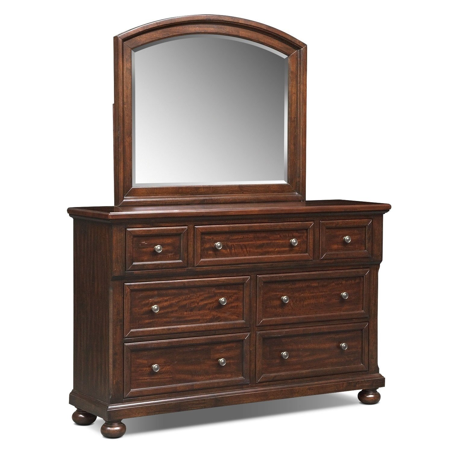 Best Hanover Dresser And Mirror Cherry American Signature Furniture With Pictures