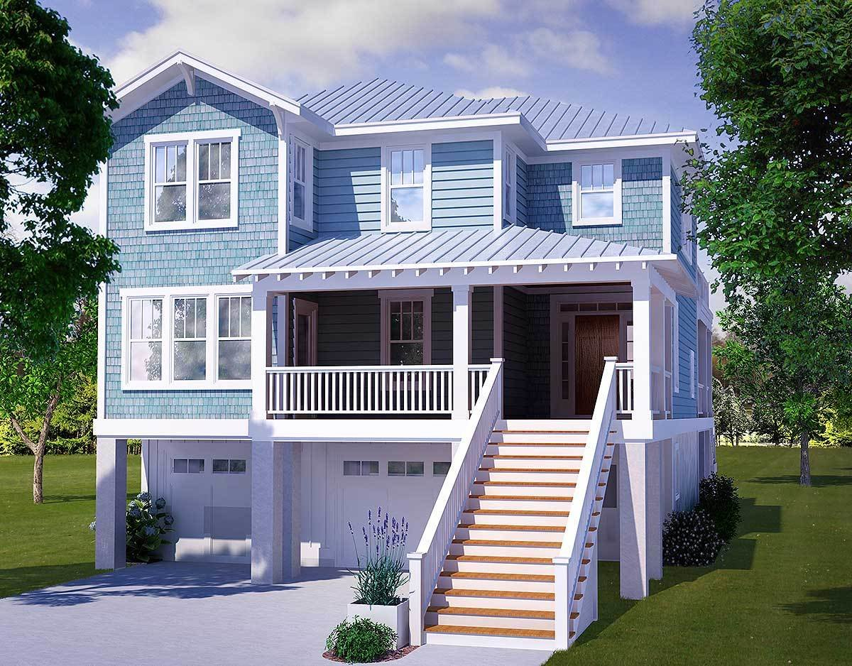 Best Four Bedroom Beach House Plan 15009Nc Architectural With Pictures