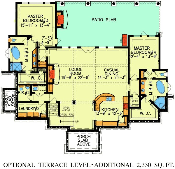 Best Dual Master Suites 15800Ge Architectural Designs With Pictures