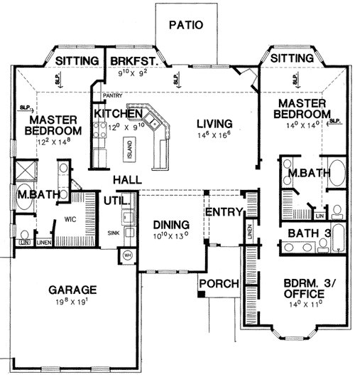 Best Double Master Bedroom House Plan 3056D 1St Floor With Pictures