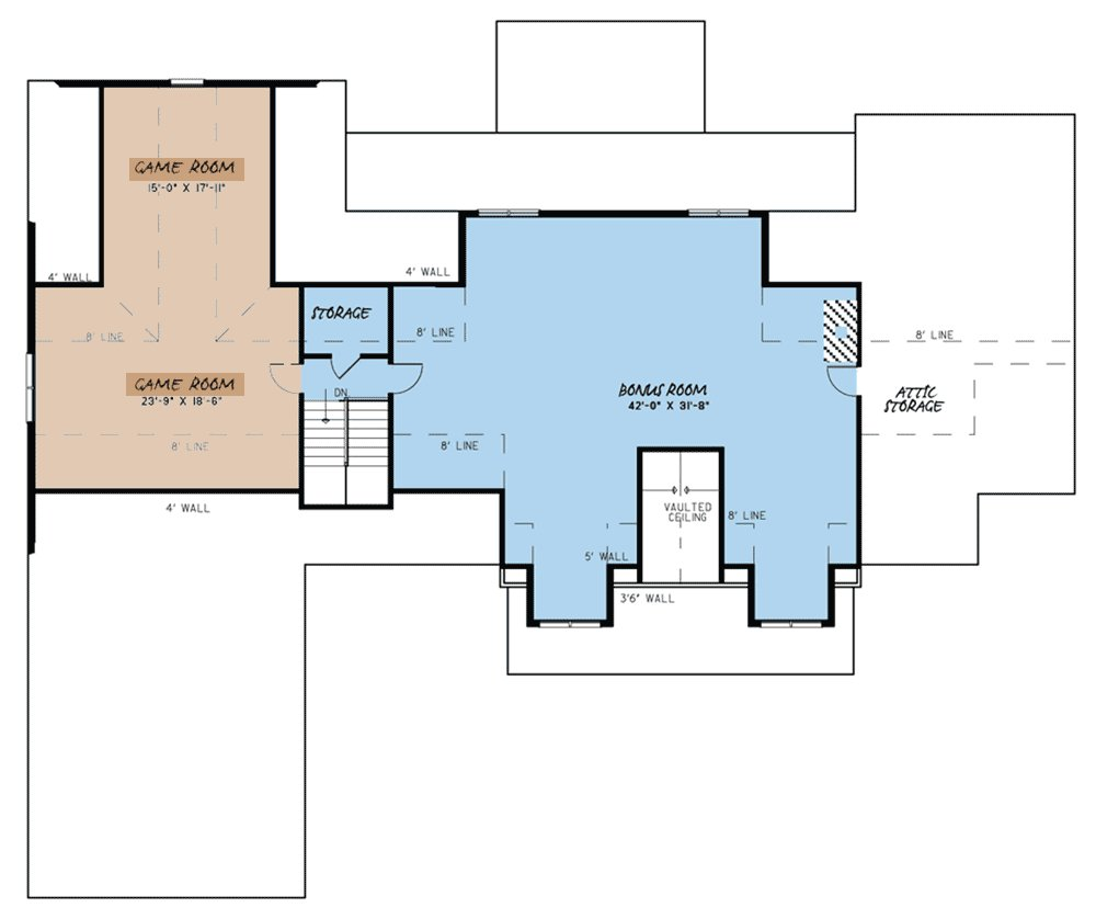 Best Mountain Style 4 Bedroom House Plan With 2 Bonus Rooms With Pictures
