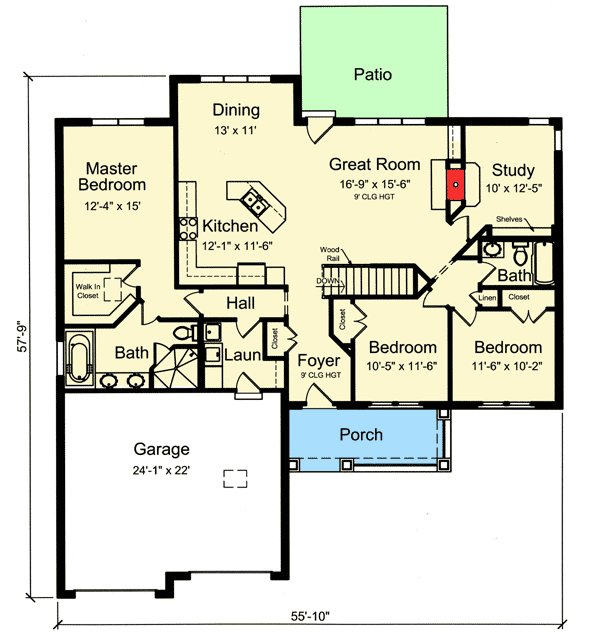 Best One Story Split Bedroom House Plan 39225St With Pictures