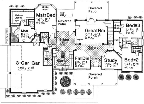 Best 3 Bedroom Home Plan With Large Bonus Room 48318Fm With Pictures