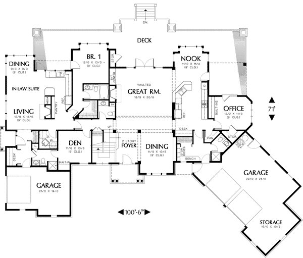 Best Two Story Plan With In Law Suite 69238Am Architectural With Pictures