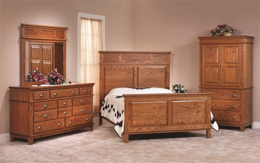 Best Shaker Style Oak Three Piece Bedroom Set From Dutchcrafters With Pictures