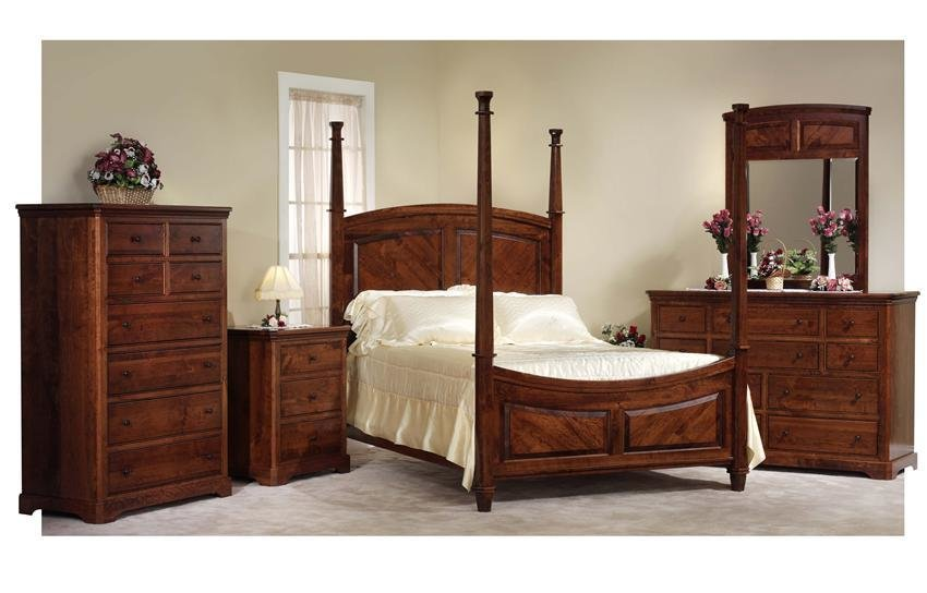 Best Amish Five Piece Bedroom Set With 4 Poster Bed In Rustic With Pictures