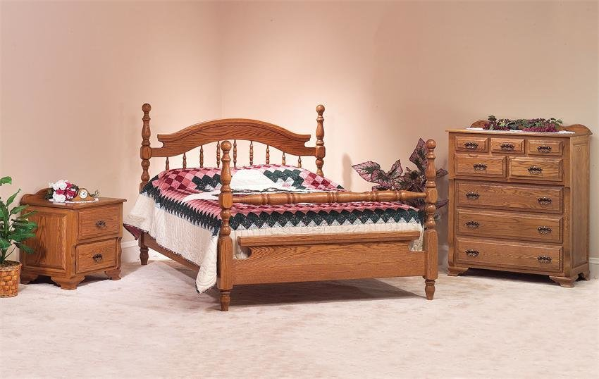 Best Amish Deluxe Oak Crest Three Piece Bedroom Set In Oak From With Pictures