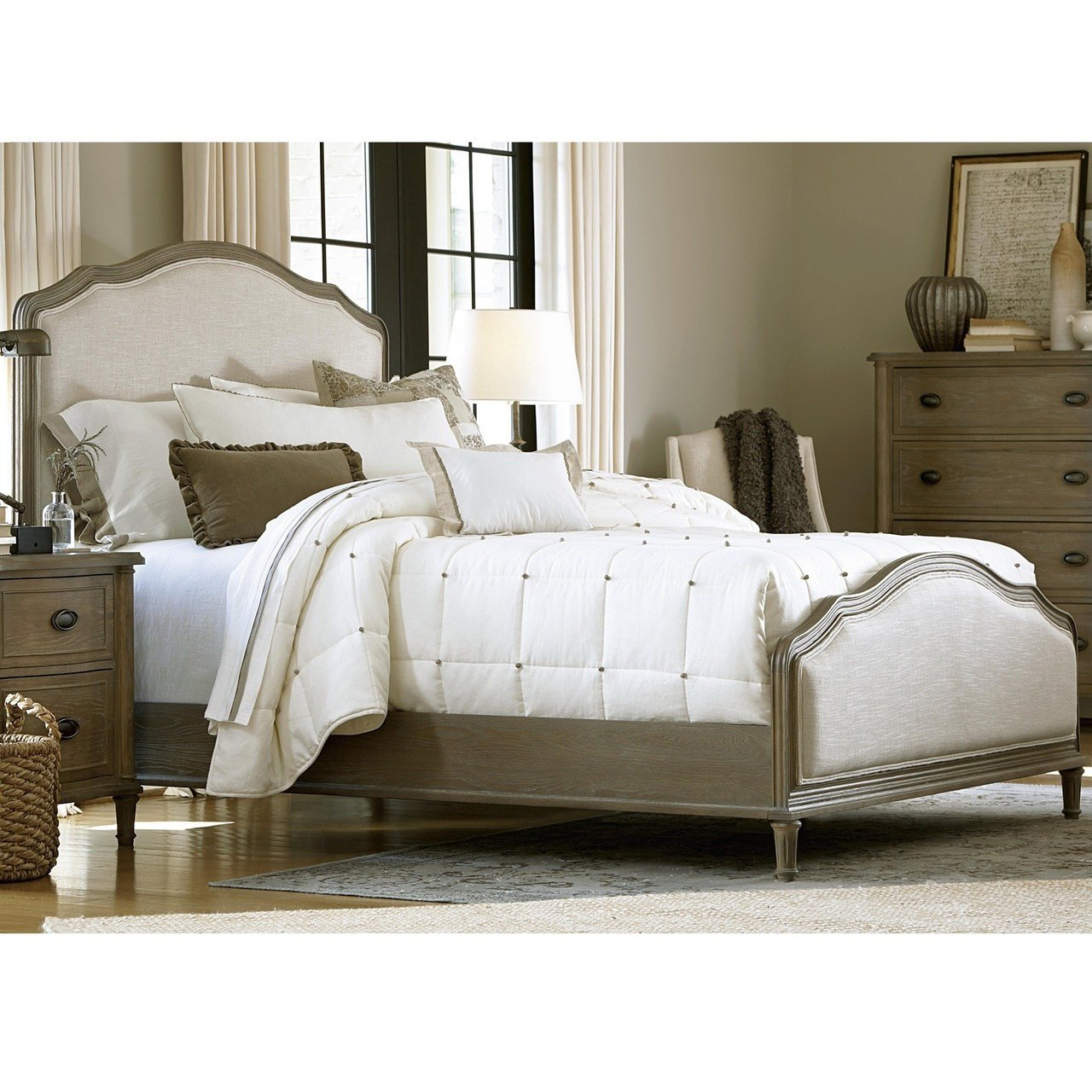 Best French Country Oak 6 Piece Queen Bedroom Set Zin Home With Pictures