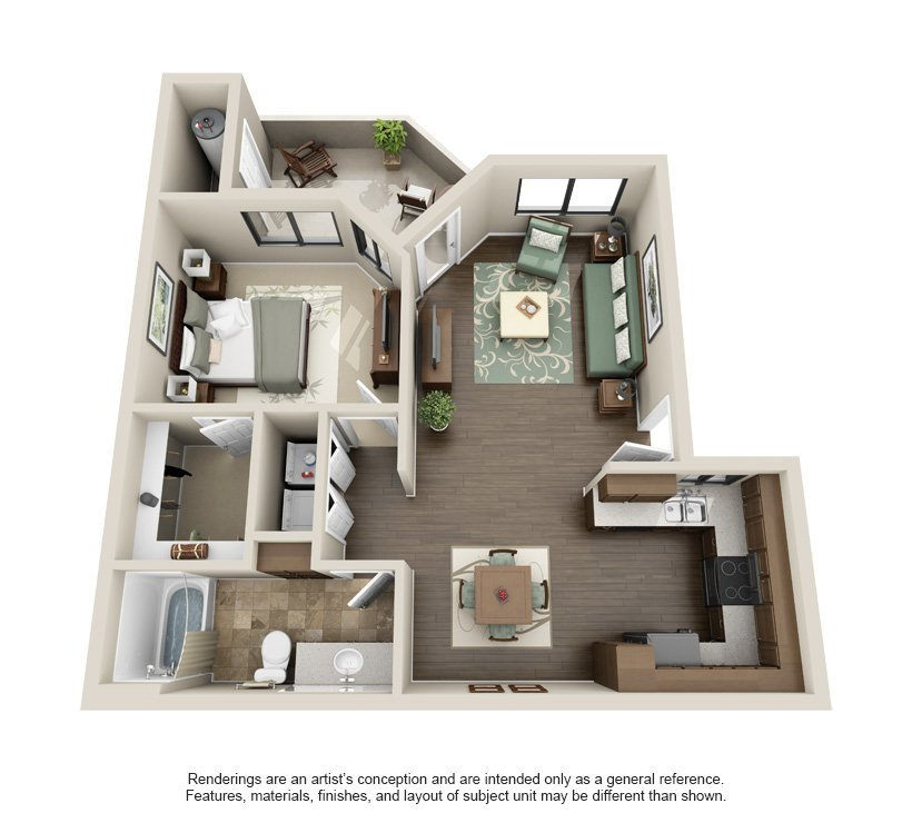 Best 1 2 3 Bedroom Apartments In Phoenix Az The Sonoran With Pictures