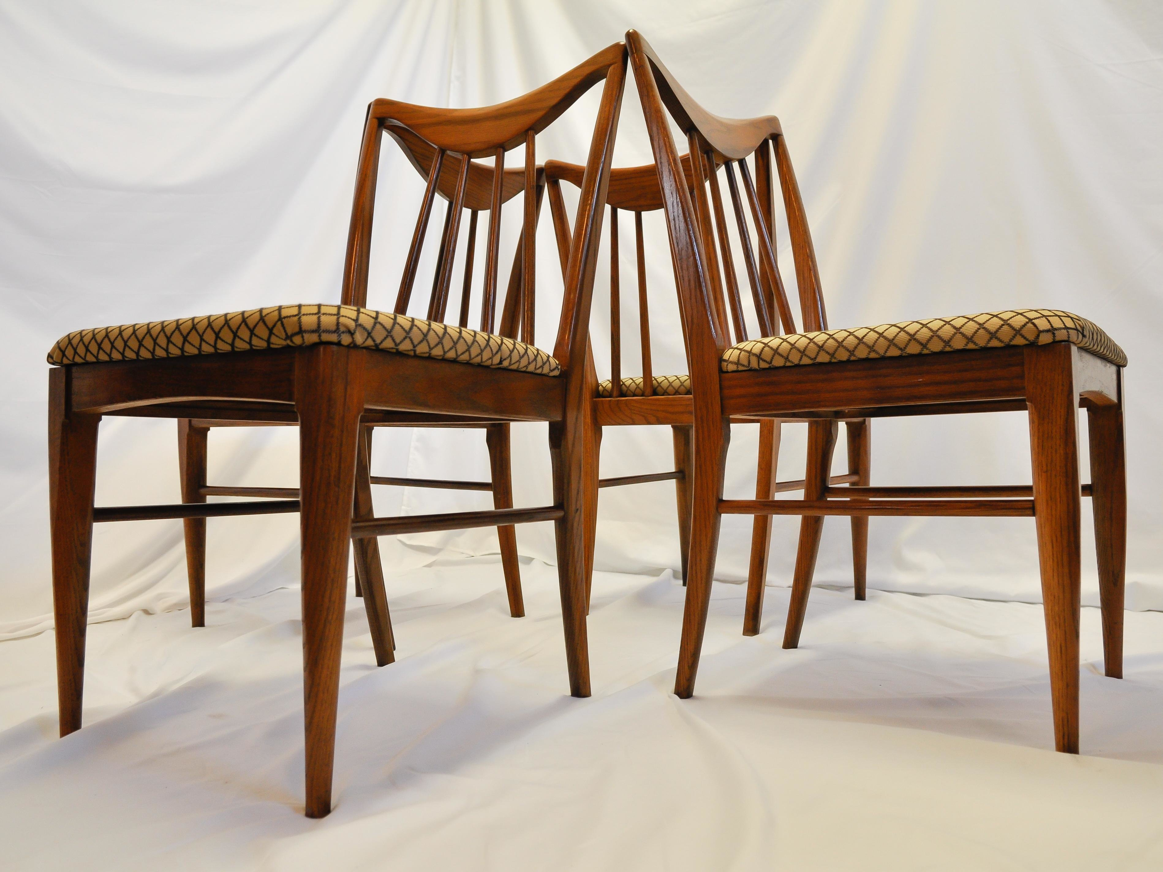 Best Mid Century Danish Walnut Dining Chairs By Keller Furniture S 4 Chairish With Pictures