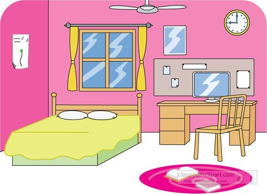 Best Home Clipart Girls Bedroom 2 Classroom Clipart With Pictures