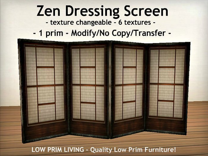 Best Second Life Marketplace Zen Dressing Screen Texture With Pictures