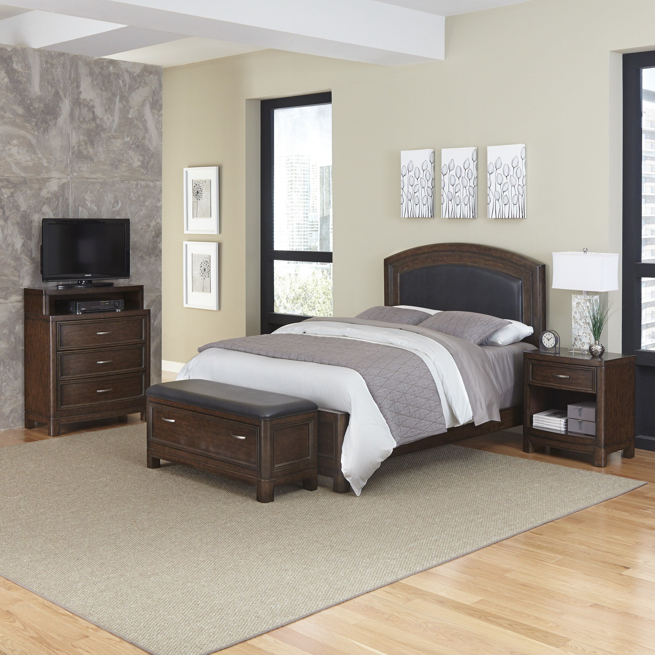 Best Home Styles Crescent Hill Panel 4 Piece Bedroom Set Wayfair With Pictures
