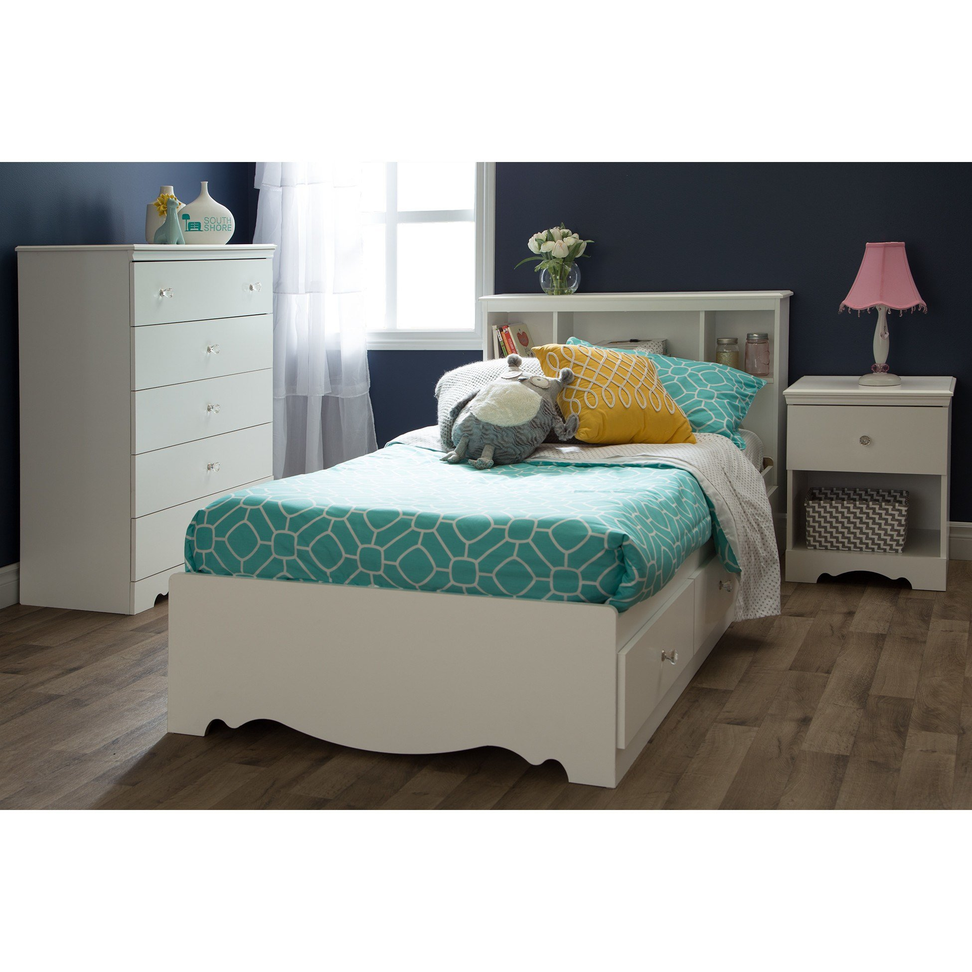 Best South Shore Crystal Platform Customizable Bedroom Set With Pictures