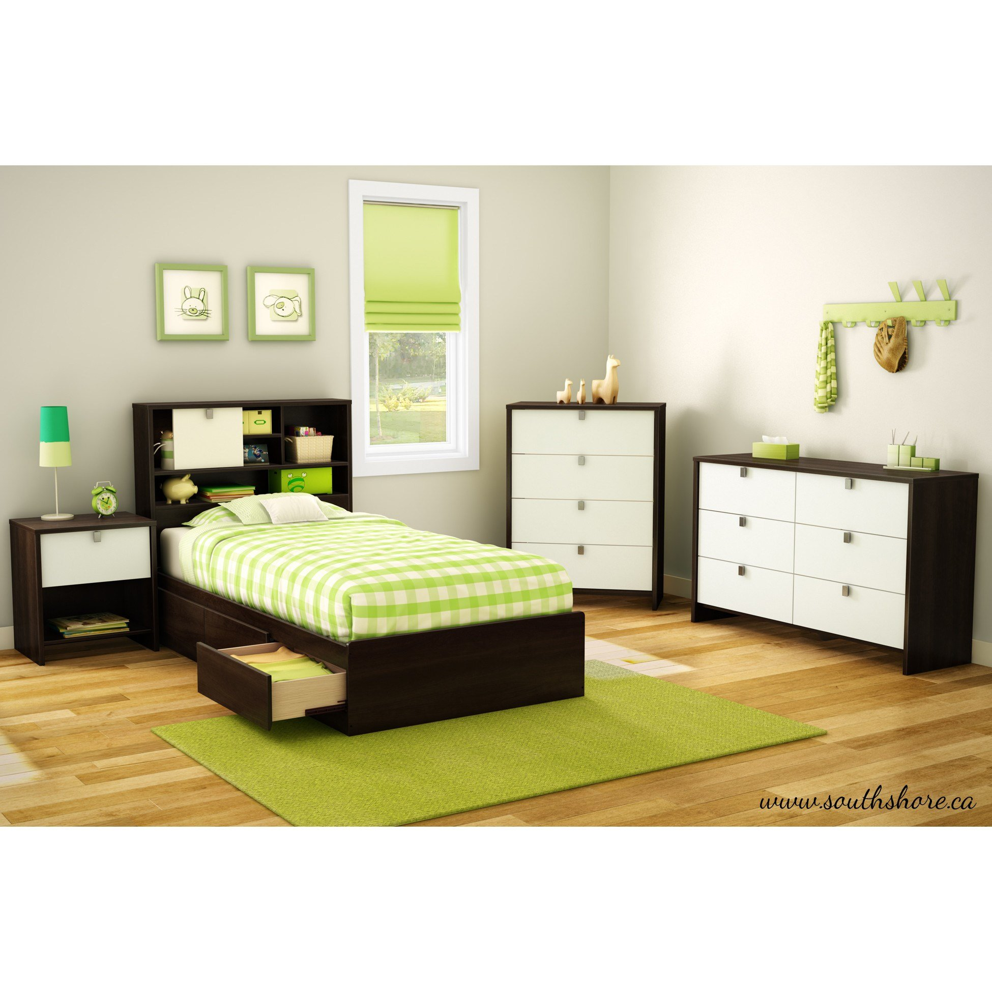Best South Shore Cookie Twin Platform Customizable Bedroom Set With Pictures