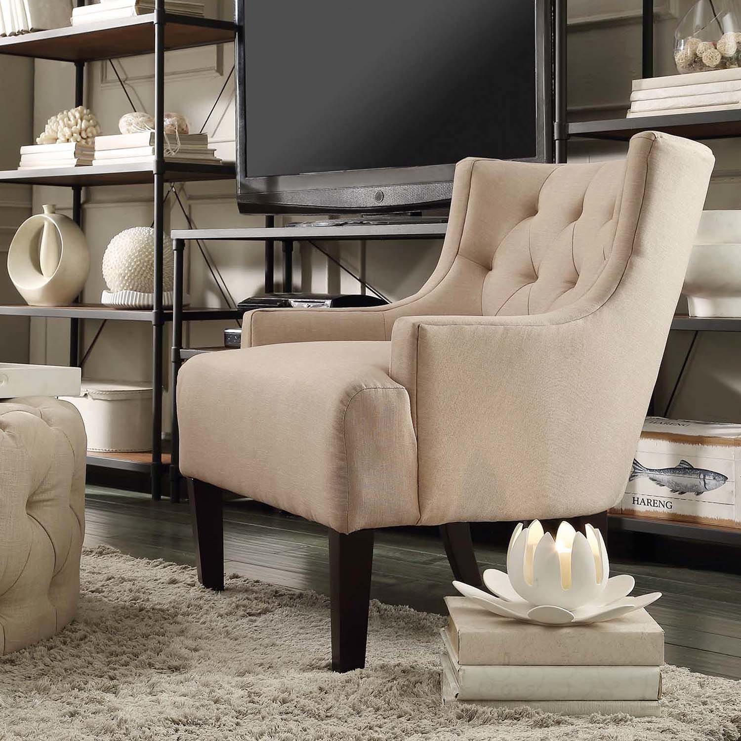 Best Kingstown Home Dawan Tufted Accent Arm Chair Reviews With Pictures