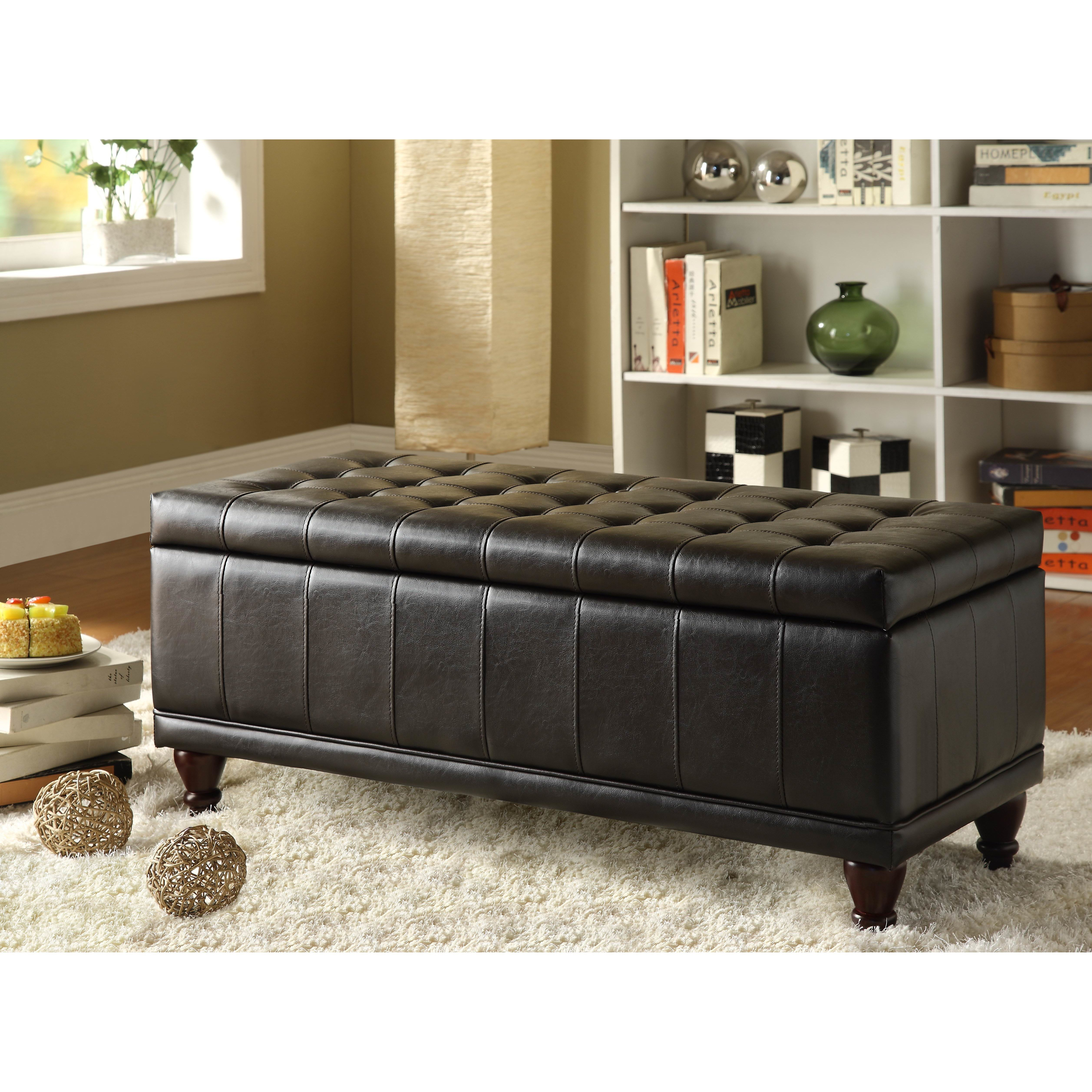 Best Darby Home Co Attles Bi Cast Vinyl Bedroom Storage Ottoman Reviews Wayfair Ca With Pictures